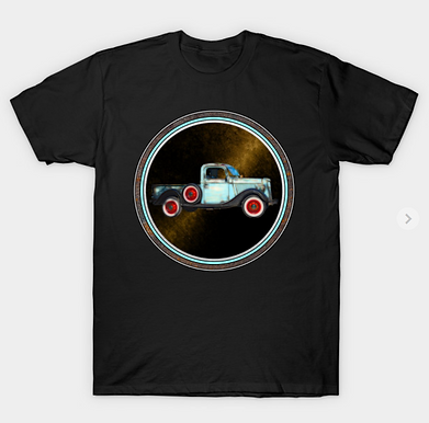 Blue Pickup Truck T-Shirt