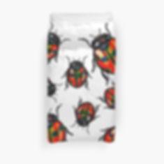 A ladybird duvet cover design.