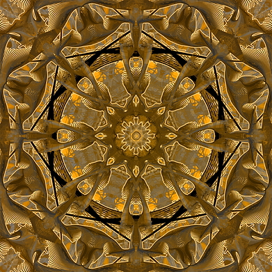 Golden Dream Of The Pacific Mandala Art Print