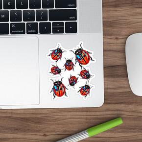 Ladybug Bugs Birds Sticker