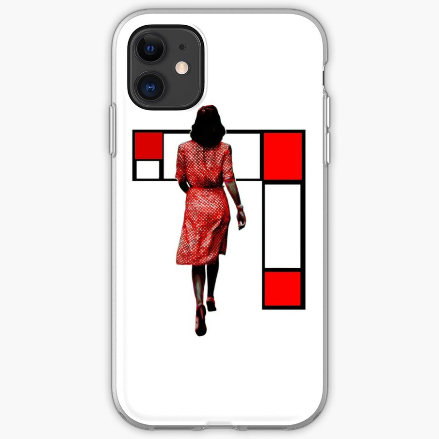 Red Dress In The City iPhone Case & Cover