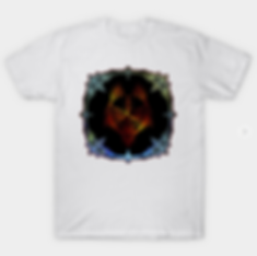 Wolf Mask In Fantasy Jewlery Frame T-Shirt
