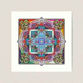 Om In Four Directions Art Print