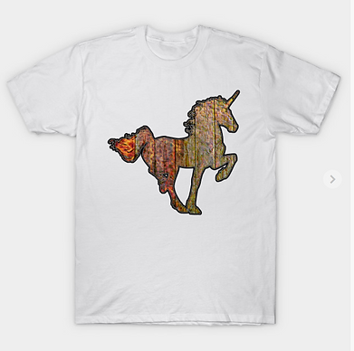 Wooden Sign With Unicorn T-Shirt