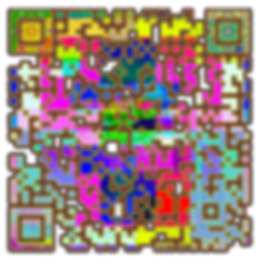 With mirth and laughter let old wrinkles. quote in Qrcode abstrac tyle.