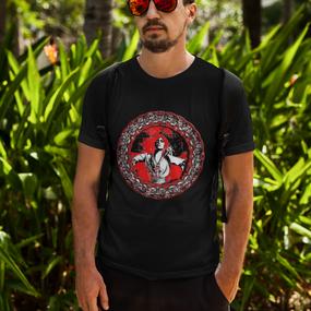 Glamor Fashion Framed Face T-Shirt