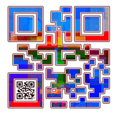 When Scanned the smaller code echoes the larger abstract version with the word 'Genius', a way to say what you want to say in a quiet way.