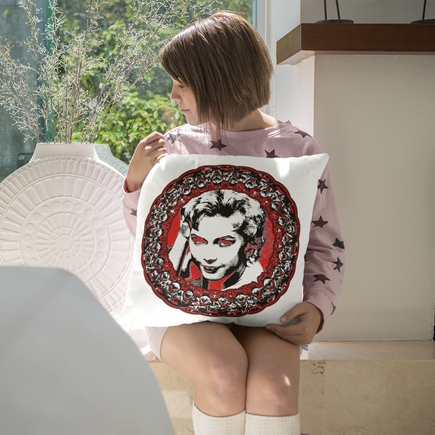 Sixties Siren Throw Pillow