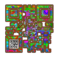 When Scanned the smaller code echoes the larger abstract version with the word 'Gift', a way to say what you want to say in a quiet way.