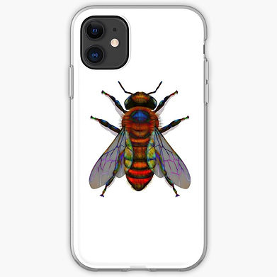 A bee for the phone. Graphics for the insect lover.