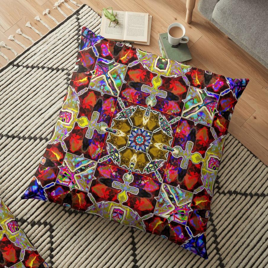 Cat Square Vibes Ten Throw Pillow