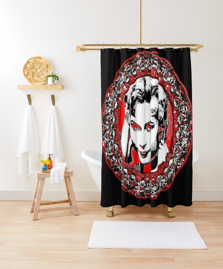 Sixties Siren Shower Curtain