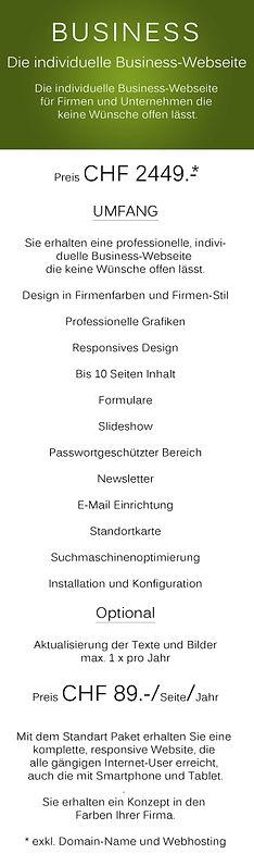 Individuelle Webseite für Firmen und Unternehmen