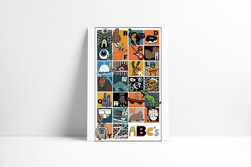 Boy Alphabet Print
