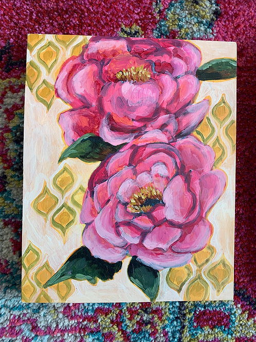 copy of Peonies on light background