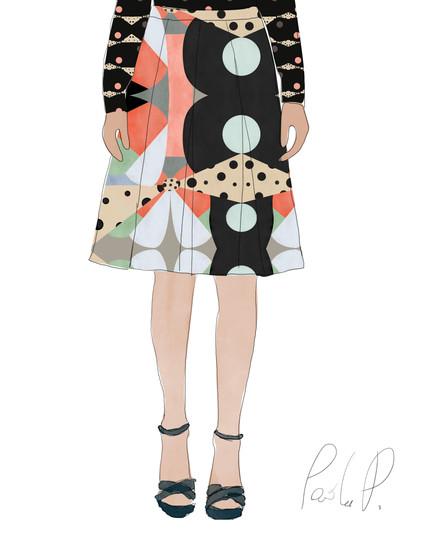 Application of Gea#1 to an skirt, details: gea#1 Secondary.