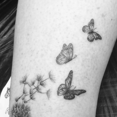 Dandelion tattoo for Daniela #dandeliont