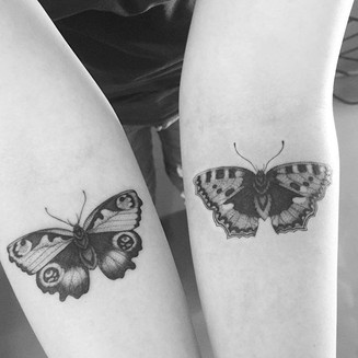 Sometimes people have butterflies in the