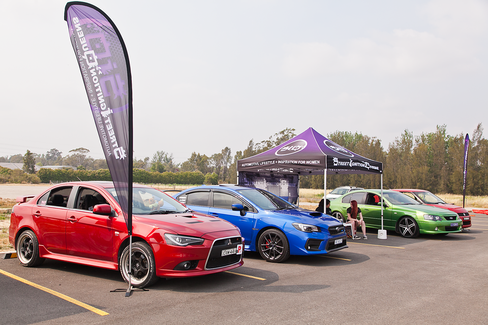 Mitsubishi Ralliart, Subaru WRX, Ford Falcon, Suzuki Swift, Ladies Automotive Community, Car show, charity event, Street Ignition Queens, ladies car club