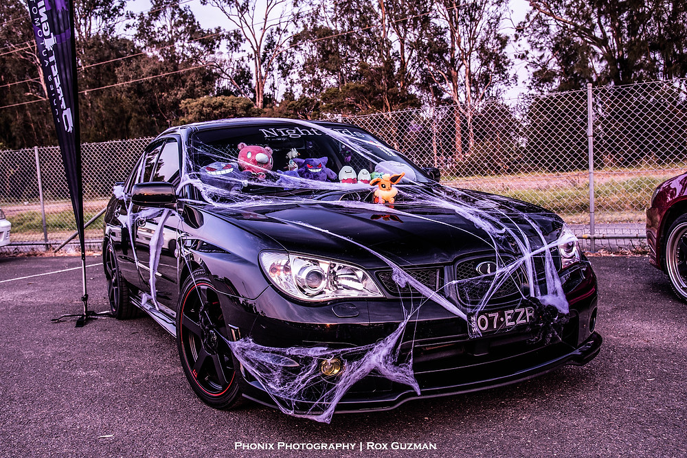 Street Ignition Queens, ladies automotive community, Subaru WRX, halloween car show, Halloween car ideas