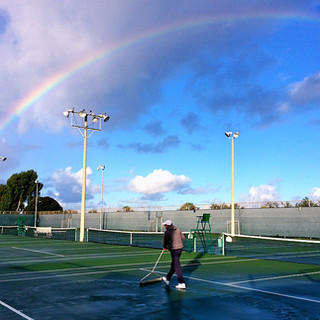 The West coast's great seaside public tennis playground