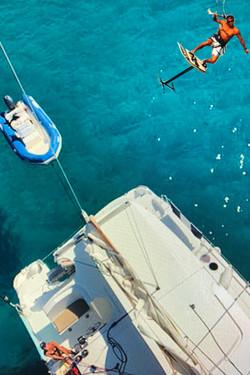 Jump Kite Over The Catamaran