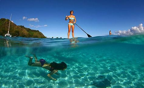 Sorite paddle lors d'une croisiere golf avec golf-croisiere.com