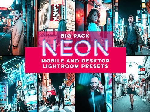 17 NEON presets for Mobile and Desktop Lightroom