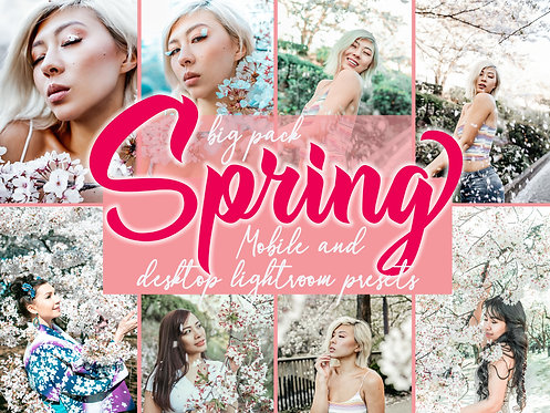 13 SAKURA SPRING presets for Mobile and Desktop Lightroom