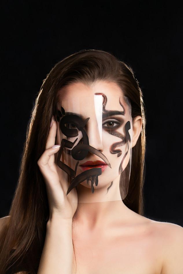 Snake make-up beauty project