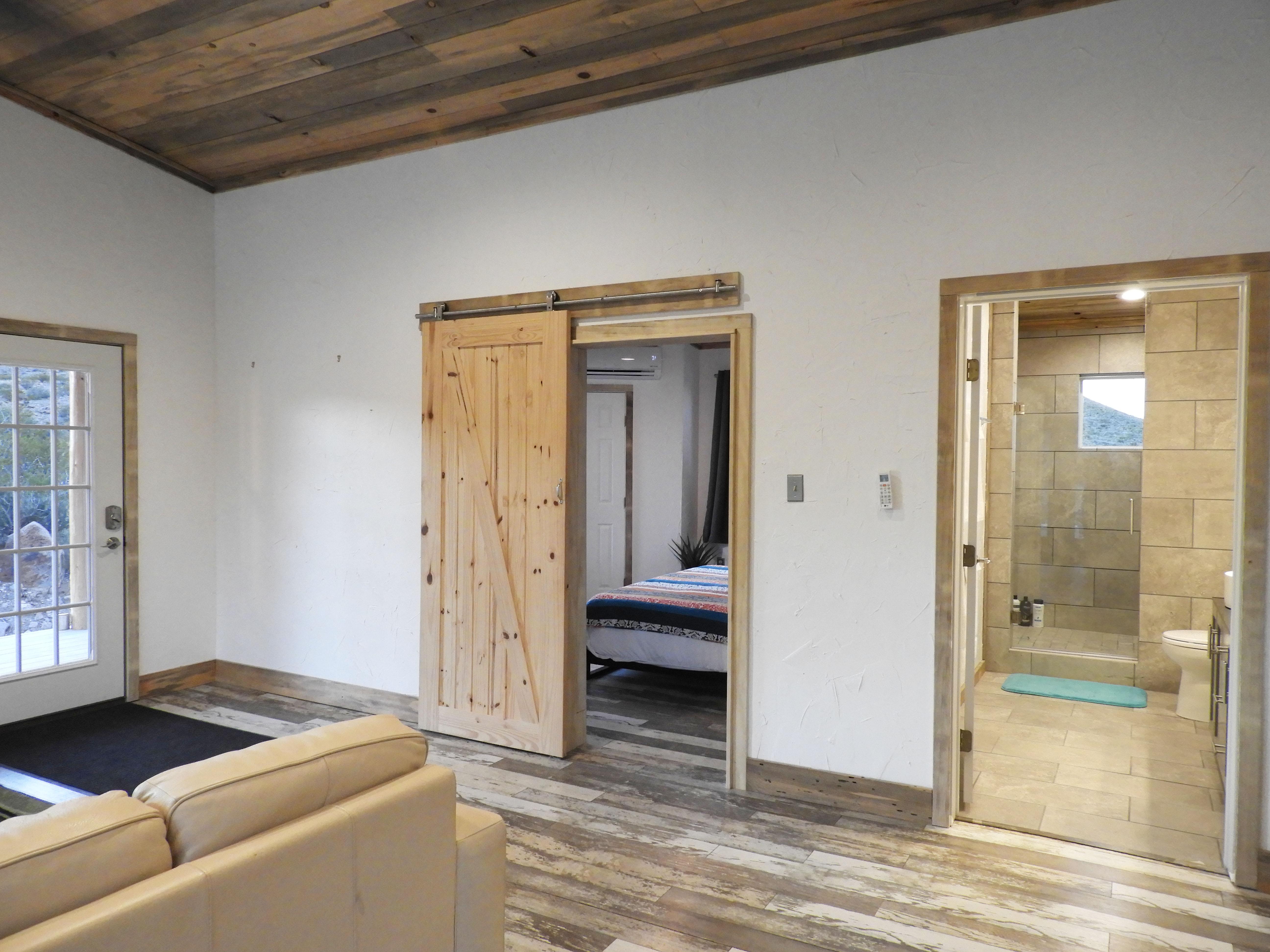 Barn Door to Bedroom