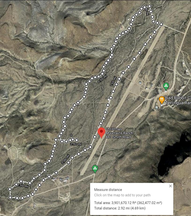 2.91 Mile hiking trail