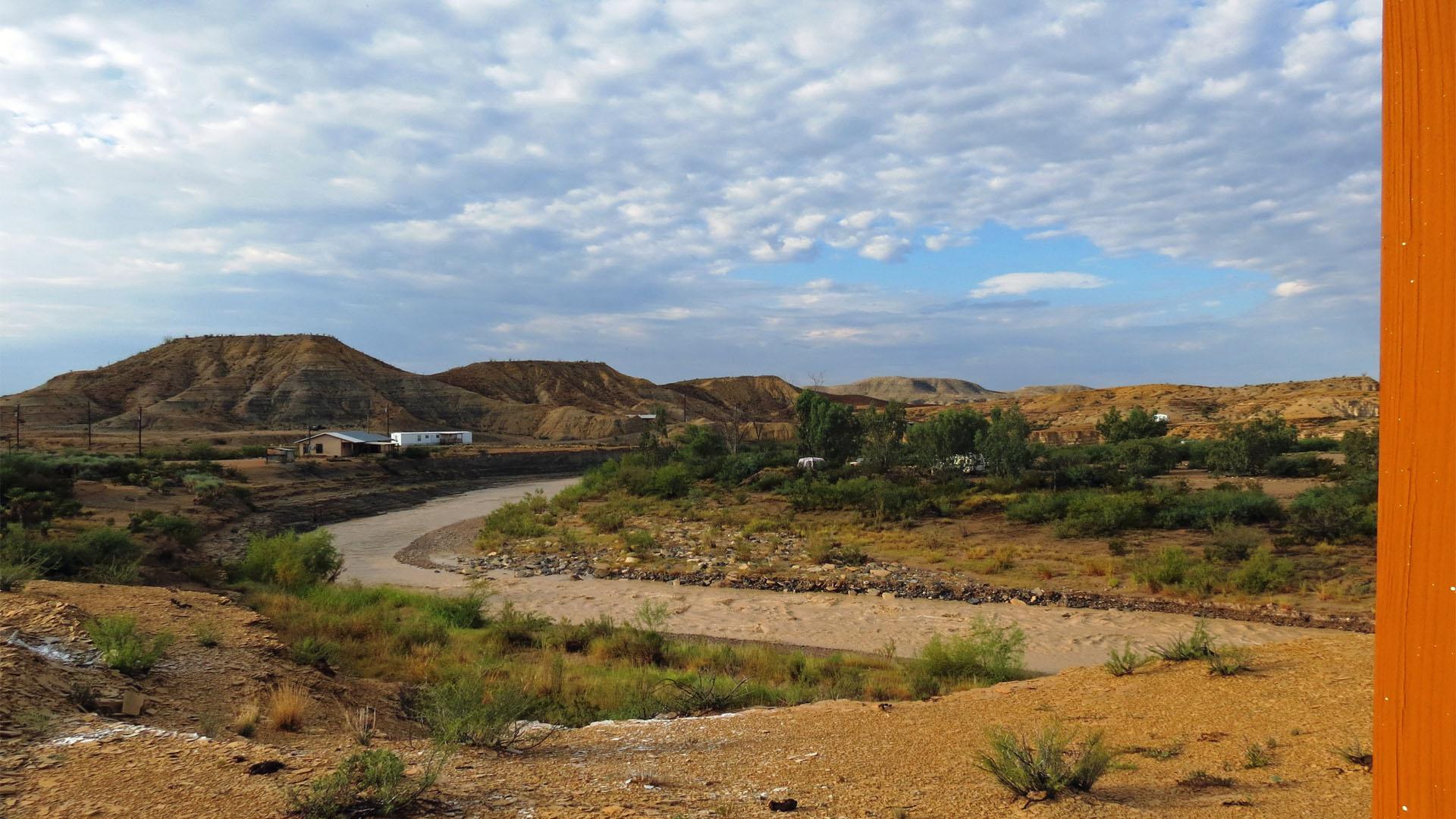 View of Terlingua Creek when flashing