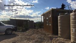 Bunkhouse under construction