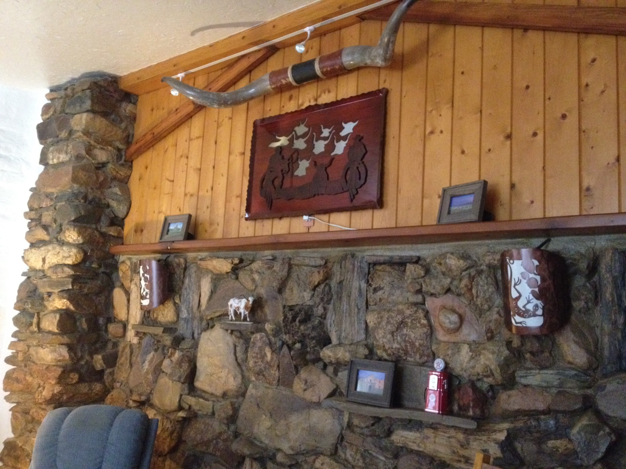 Rock Wall in Living Room