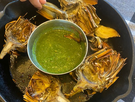 Artichokes from an Ayurvedic kitchen