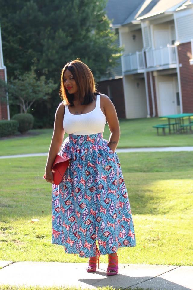 Sheena split skirt