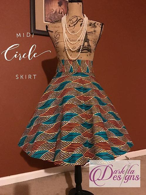 Dazzling Circle Midi Skirt