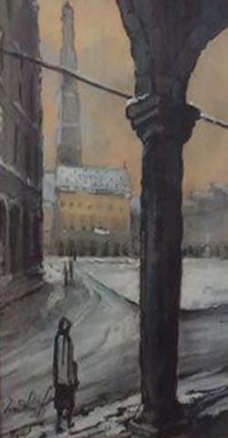 Le Beffroi d'Arras sous la neige