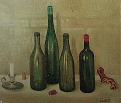 Nature morte aux bouteilles