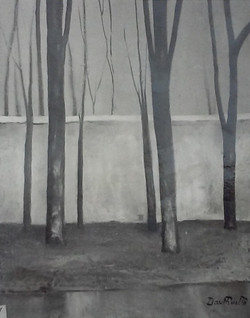 Le mur blanc