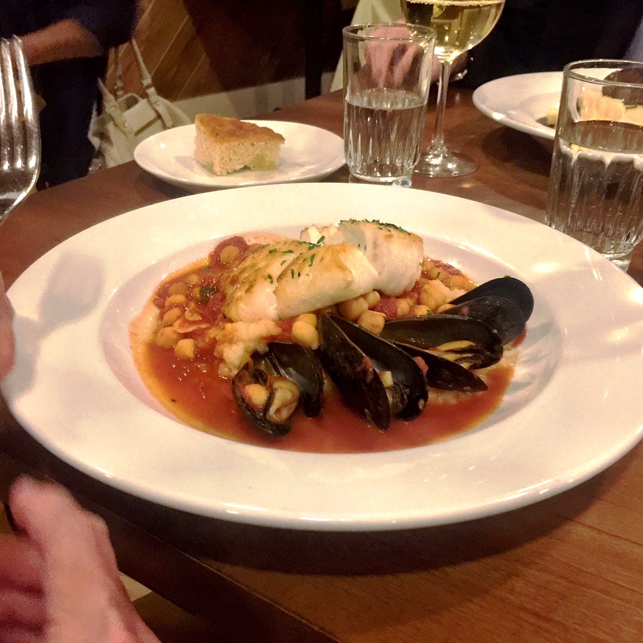 Seared Cod and mussels