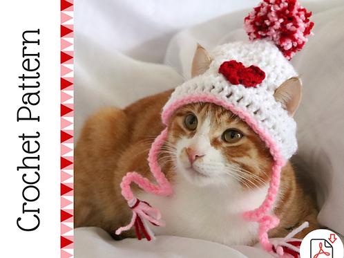 Heart Cat Hat Crochet Pattern