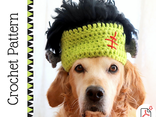 Frankenstein Dog Hat Crochet Pattern