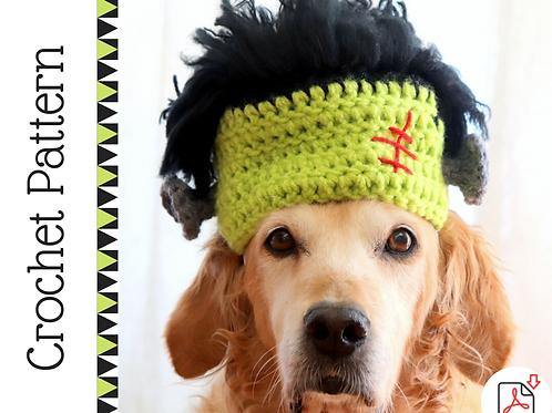 Frankenstein Dog Hat Crochet Pattern