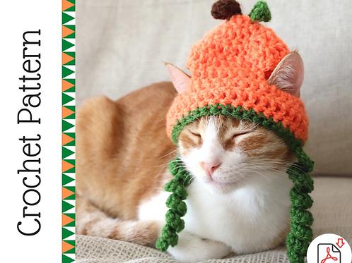 Pumpkin Cat Hat Crochet Pattern