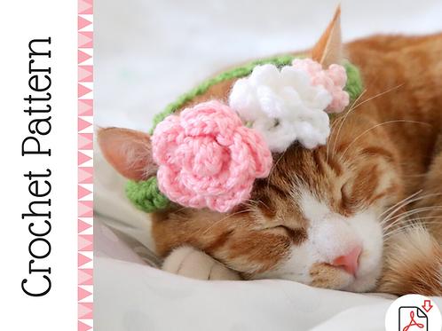 Cat Flower Crown Crochet Pattern