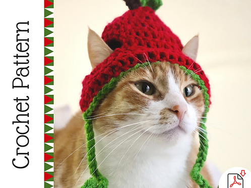 Apple Cat Hat Crochet Patteren