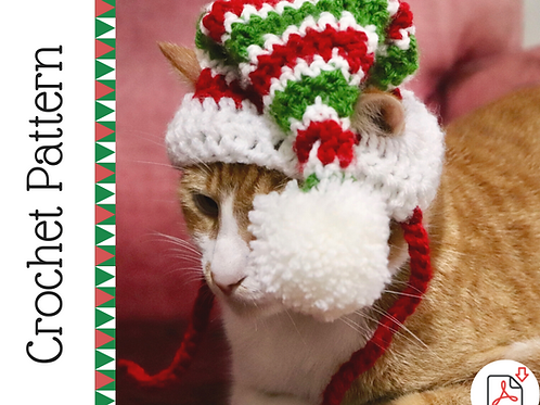 Cat Elf Hat Crochet Pattern