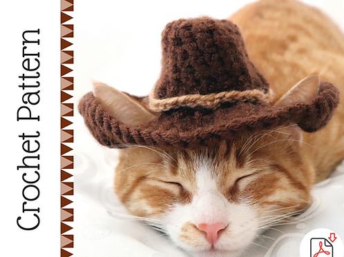 Cat Cowboy Hat Crochet Pattern